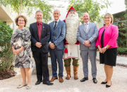 Finnish Expo 2020 Dubai pavilion partners with the Arbor School to welcome the real-life Finnish Santa Claus as he reads an open letter for future happiness